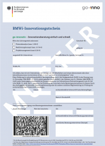 BMWi-Innovationsgutschein