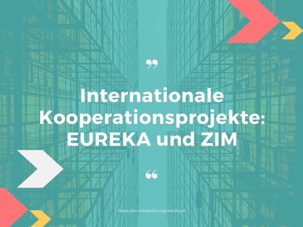 Internationale Kooperationsprojekte- EUREKA und ZIM